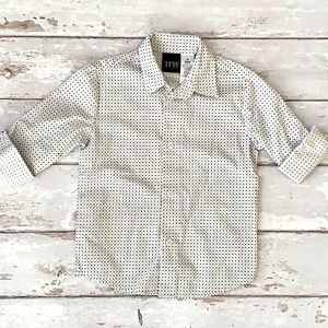 Boys 4T Dress Shirt Button Down TWF White Black